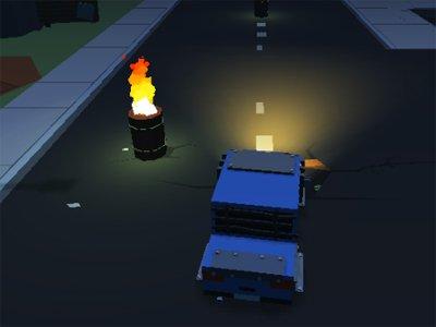 Blocky Zombie Highway